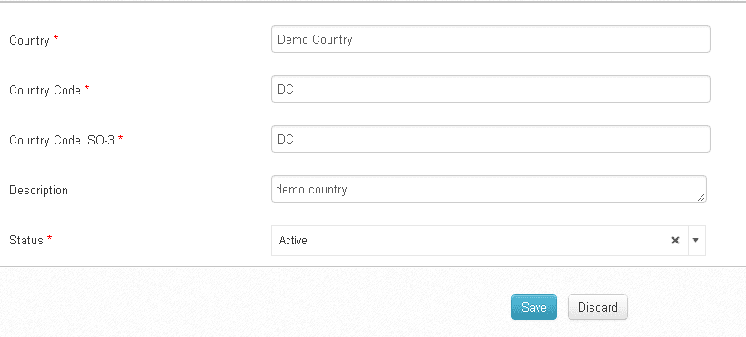 how to add country code in form